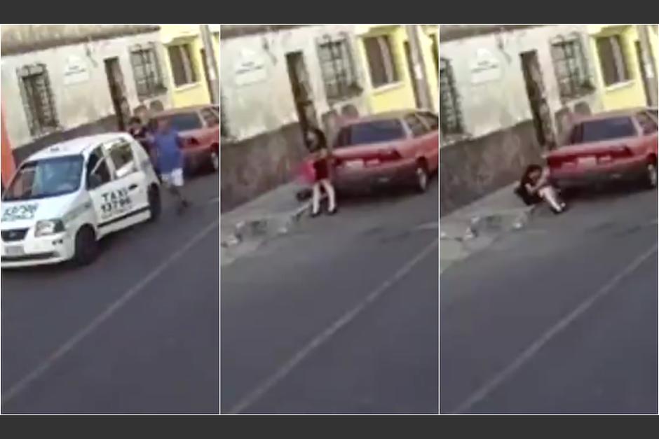 Según la denuncia, un taxista secuestró, violó y luego abandonó a una joven en la zona 7. (Foto: Captura de video)
