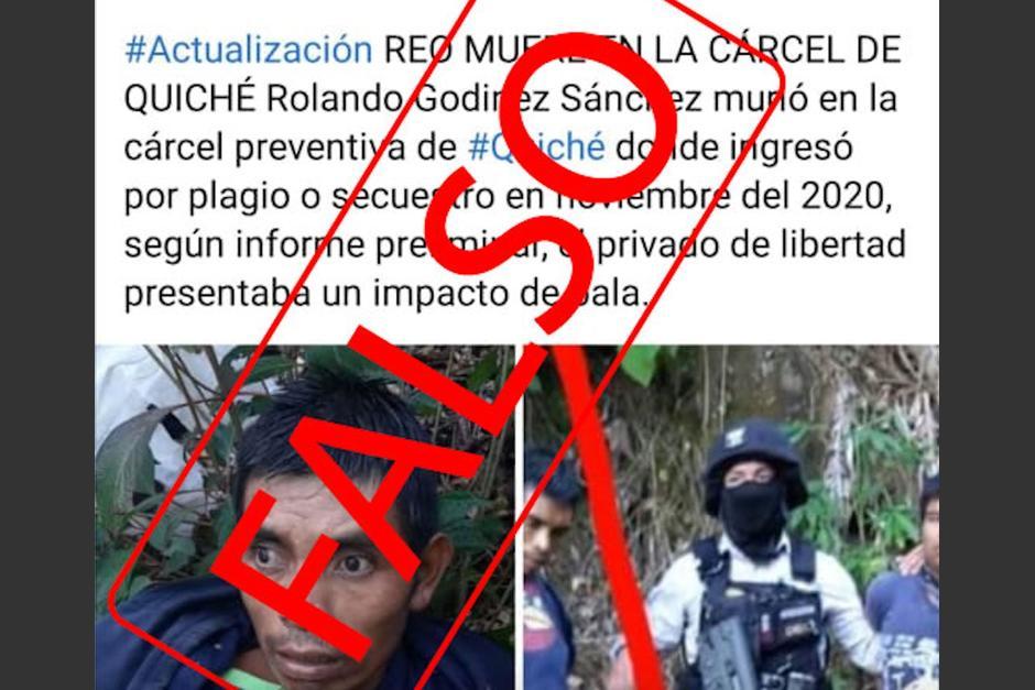 Sistema Penitenciario niega que un reo haya fallecido en Quiché. (Foto: Captura de pantalla)
