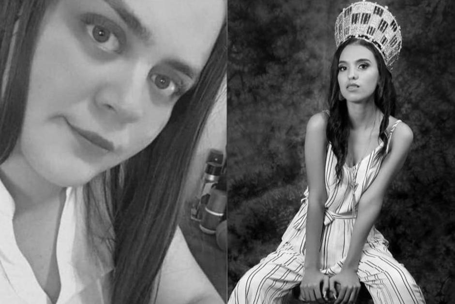 Dos jóvenes murieron en un accidente de tránsito en Petén, una de ellas era una reina de belleza. (Fotos: Redes sociales)