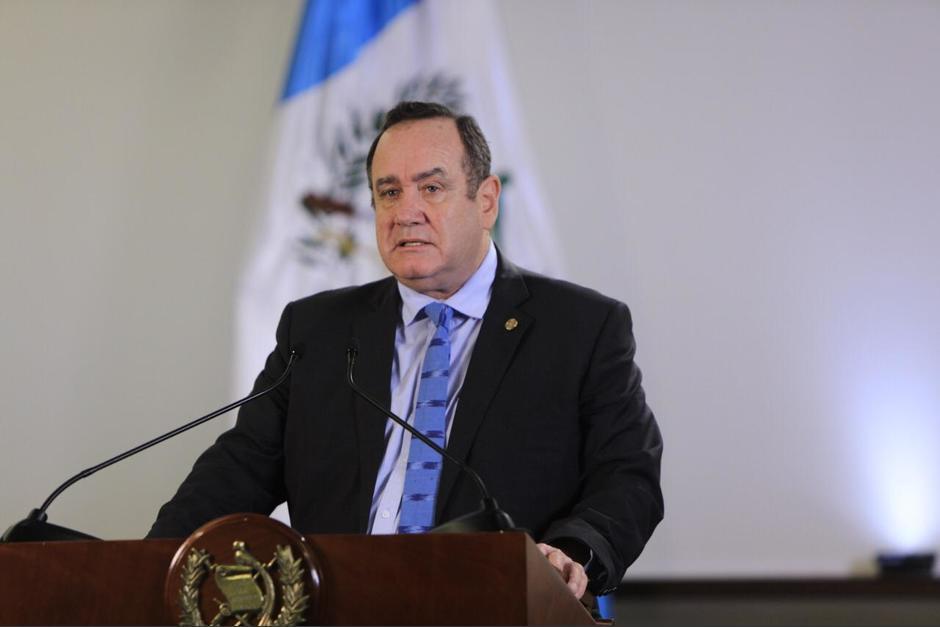 El presidente Alejandro Giammattei informó que dará un mensaje durante una nueva cadena nacional la noche de este martes 20 de julio. (Foto: Presidencia)