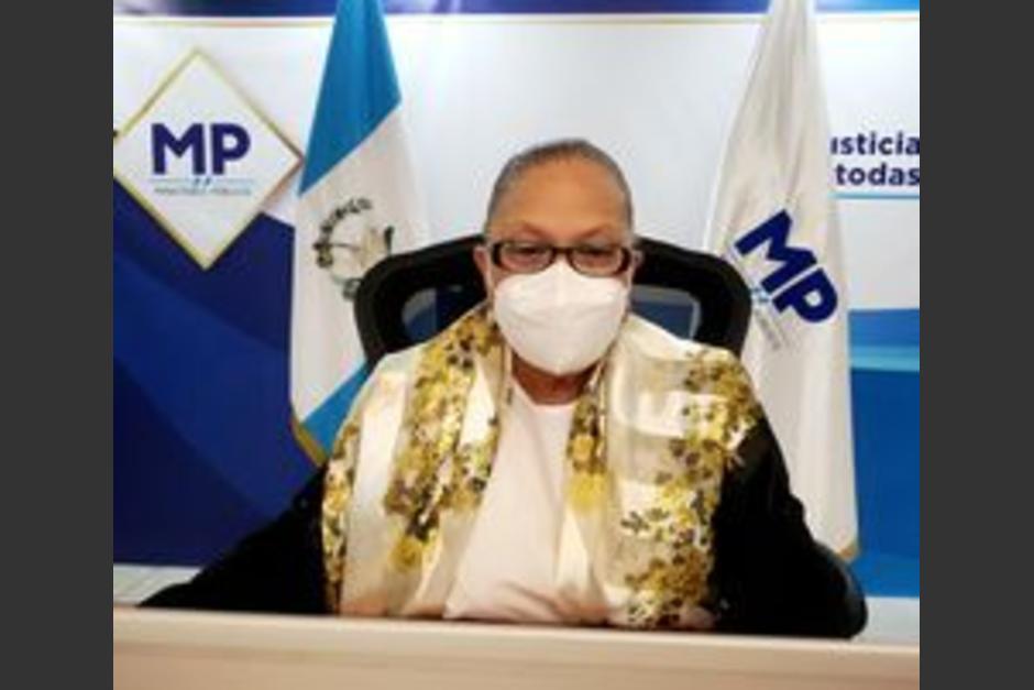 Consuelo Porras se pronunció ante la destitución de Juan Francisco Sandoval. (Foto: Ministerio Público)