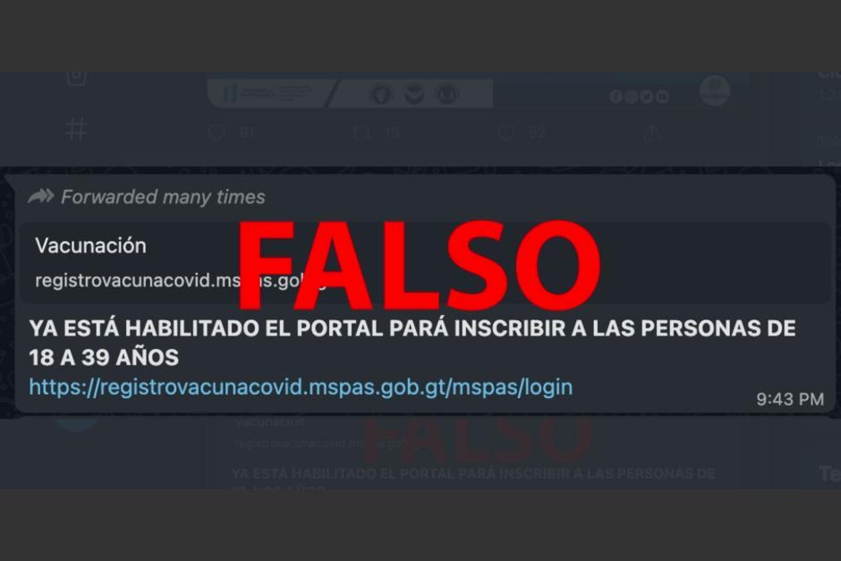 Varios mensajes falsos se comparten en redes sociales. (Foto: Captura pantalla)