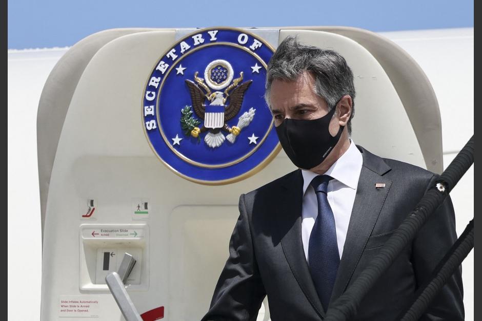 Anthony Blinken llegó este martes a Costa Rica donde se reunirá con representantes de la región. (Foto: AFP)