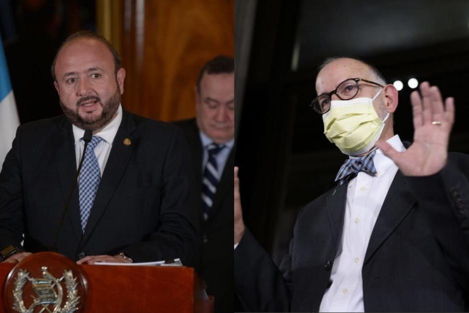 El ministro de Economía, Antonio Malouf, y el exjefe de la Coprecovid, iniciaron una discusión por las vacunas contra el Covid-19. (Foto: Soy502)