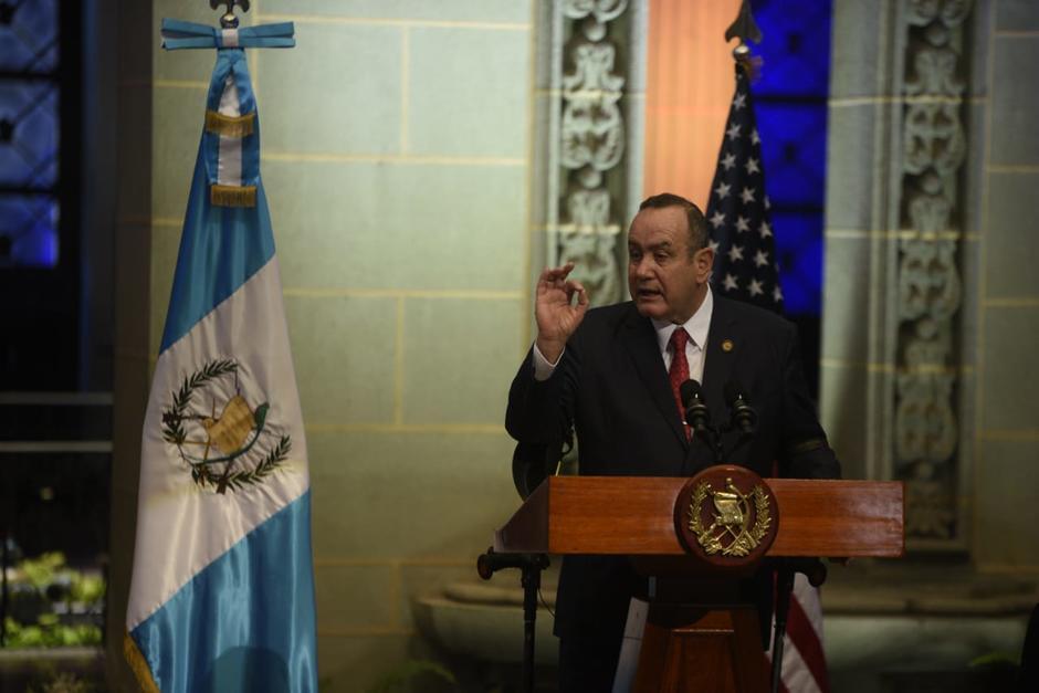 """El presidente Alejandro Giamamttei aseguró que ha sido señalado en """"cero"""" casos de corrupción. (Foto: Wilder López/Soy502)"""