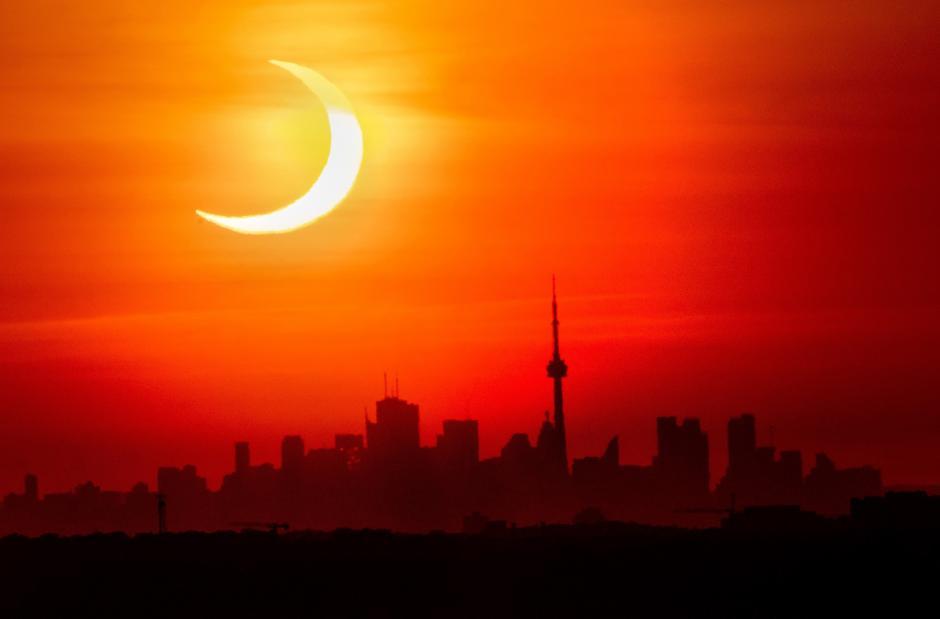 En España también se pudo observar el eclipse. (Foto: AFP)