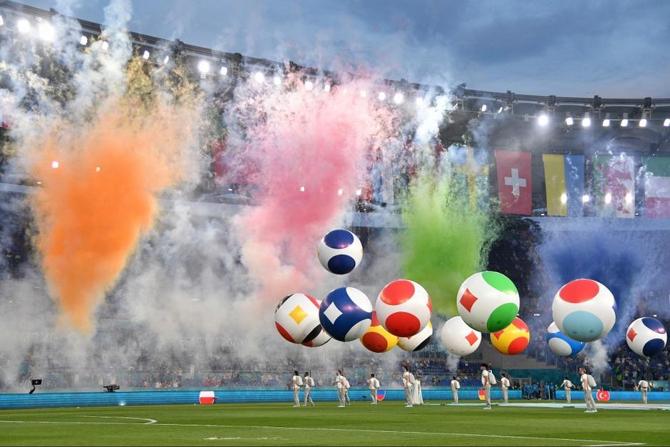 Ceremonia de apertura de la Eurocopa. (Foto: AFP)