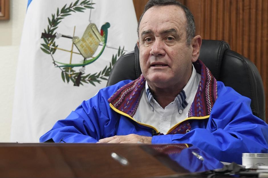 Giammattei no mencionó ninguno de los señalamientos de corrupción en contra de funcionarios de su gobierno. (Foto: Gobierno de Guatemala)