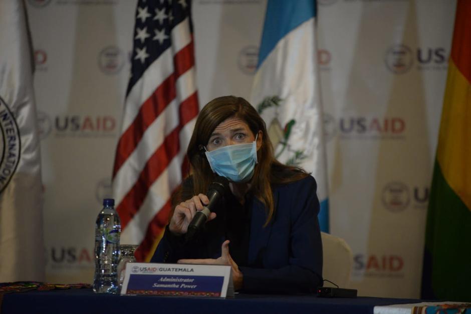 La administradora de la Usaid, Samantha Power, visitó Guatemala en su primer viaje internacional. (Foto: Wilder López/Soy502)