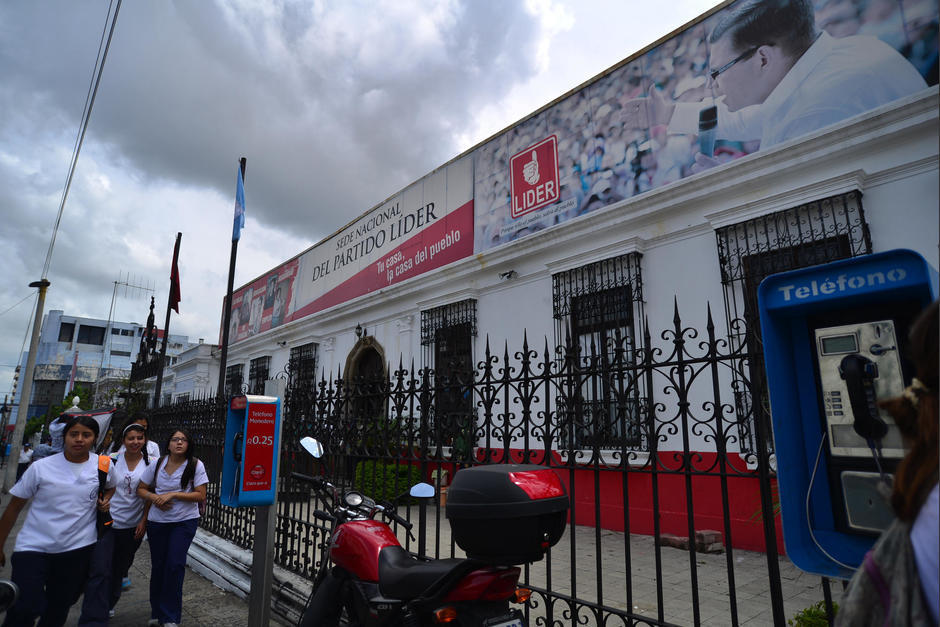 La antigua sede del partido Lider actualmente se encuentra inmovilizada por una orden judicial. (Foto: Archivo/Soy502)