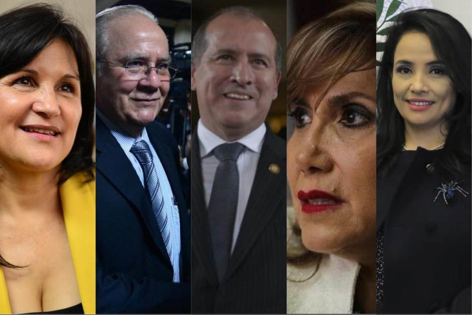 Los cinco magistrados titulares de la CC tomarán posesión el 14 de abril de 2021 para un periodo de cinco años. (Fotos: Archivo y SCSP)