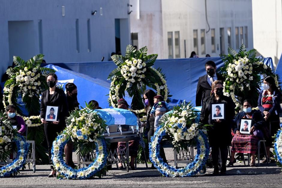 La masacre ocurrió el 22 de enero pasado y hasta este día retornaron los restos hacia Guatemala.(Foto: Johan Ordóñez/AFP)