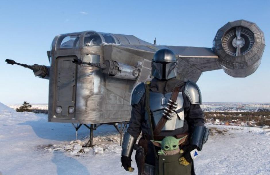 La nave de The Mandalorian fue replicada en Siberia. (Foto: AFP)