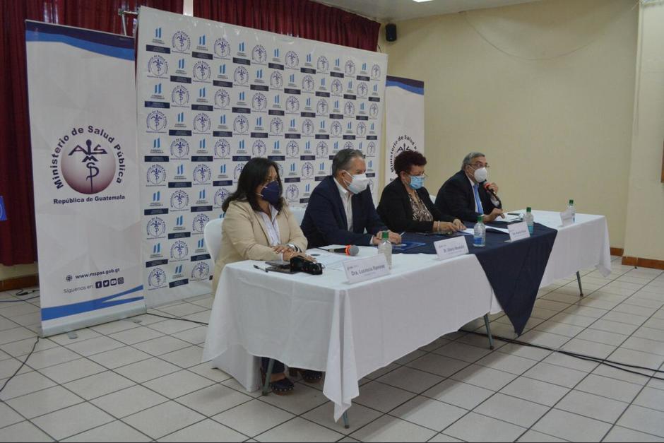 Autoridades del Ministerio de Salud ofrecieron conferencia de prensa por el incremento de casos de Covid-19. (Foto: MSPAS)