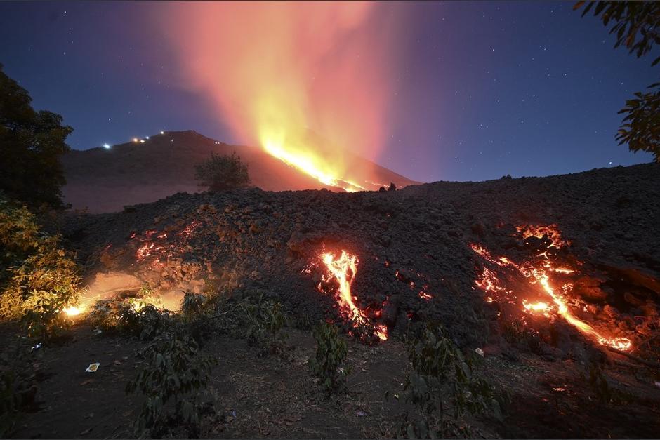 La Conred informó que este viernes se cumplen 50 días desde que el volcán comenzó su fase eruptiva. (Foto: Johan Ordóñez/AFP)