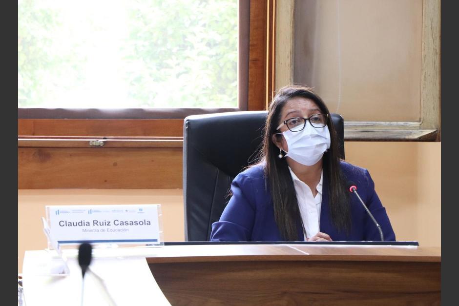 La ministra de Educación, Claudia Ruiz, respondió sobre la contratación de sus familiares en el Gobierno. (Foto: Mineduc)