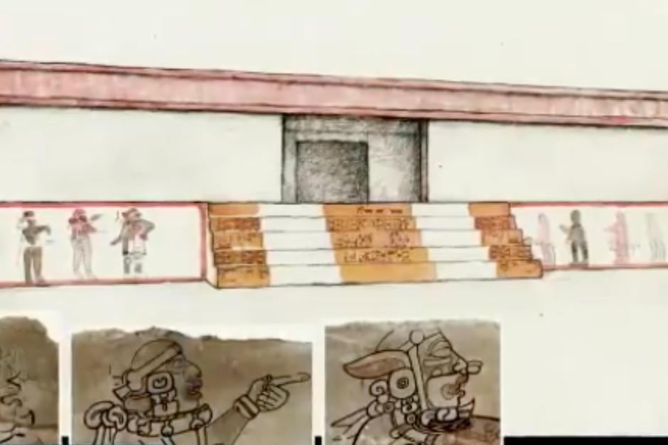 """Autoridades presentaron nuevas interpretaciones del """"Mural de los Jugadores de Pelota"""" de Tikal. (Foto: Ministerio de Cultura y Deportes)"""