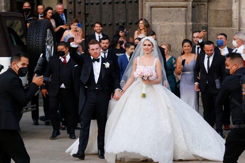 El boxeador sorprendió con una boda lujosa. (Foto: Infobae)