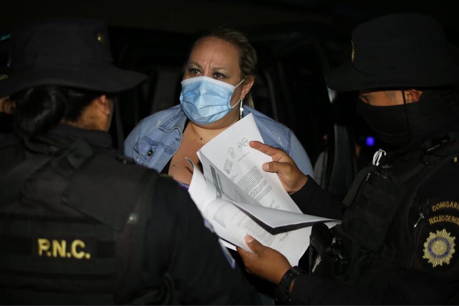 Capturan a la sobrina de Sandra Torres, María Marta Castañeda Torres, por tener seis órdenes vigentes de aprehensión. (Foto: PNC)