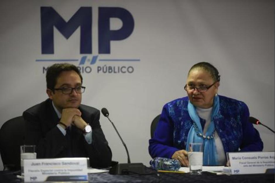 Consuelo Porras despidió a Juan Francisco Sandoval el 23 de julio de 2021. (Foto: archivo/Soy502)