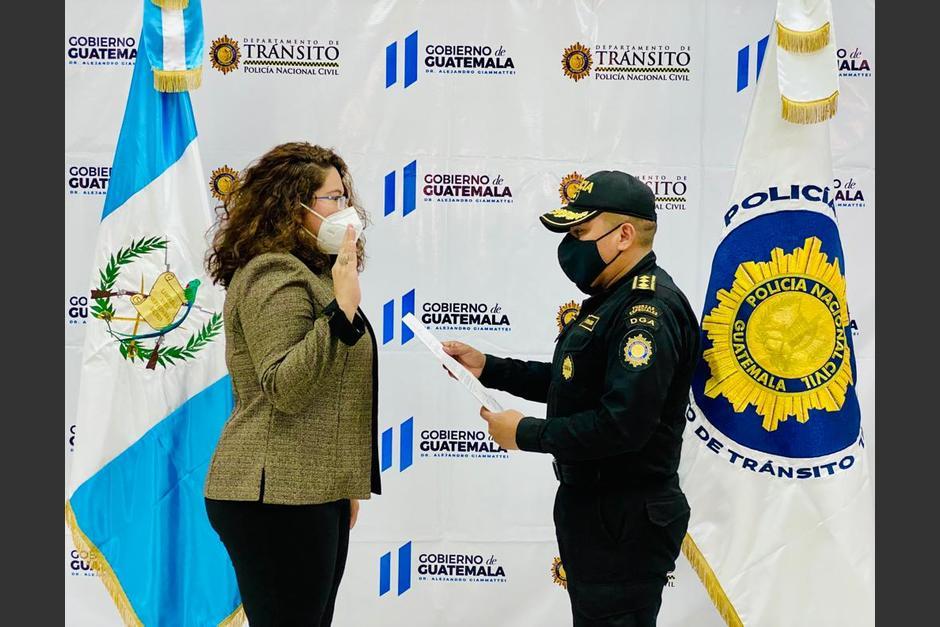 Sara Bolaños trabajada como asesora de la PNC. (Foto: PNC)