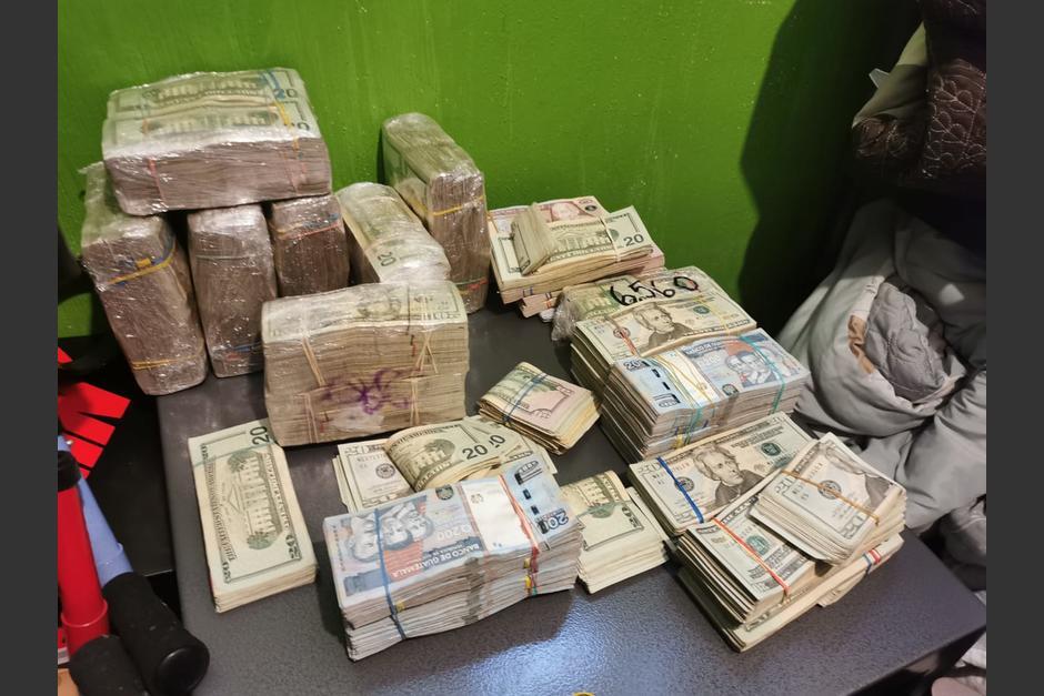Las autoridades incautaron más de 2 millones de quetzales durante allanamientos que se efectuaron en varios departamentos. (Foto: Ministerio Público)