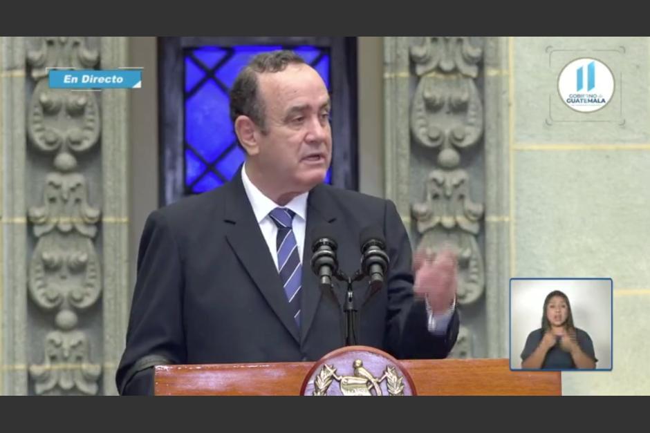 El Presidente pidió a los atletas llevar un mensaje a la población para incentivar la vacunación. (Foto: captura video)