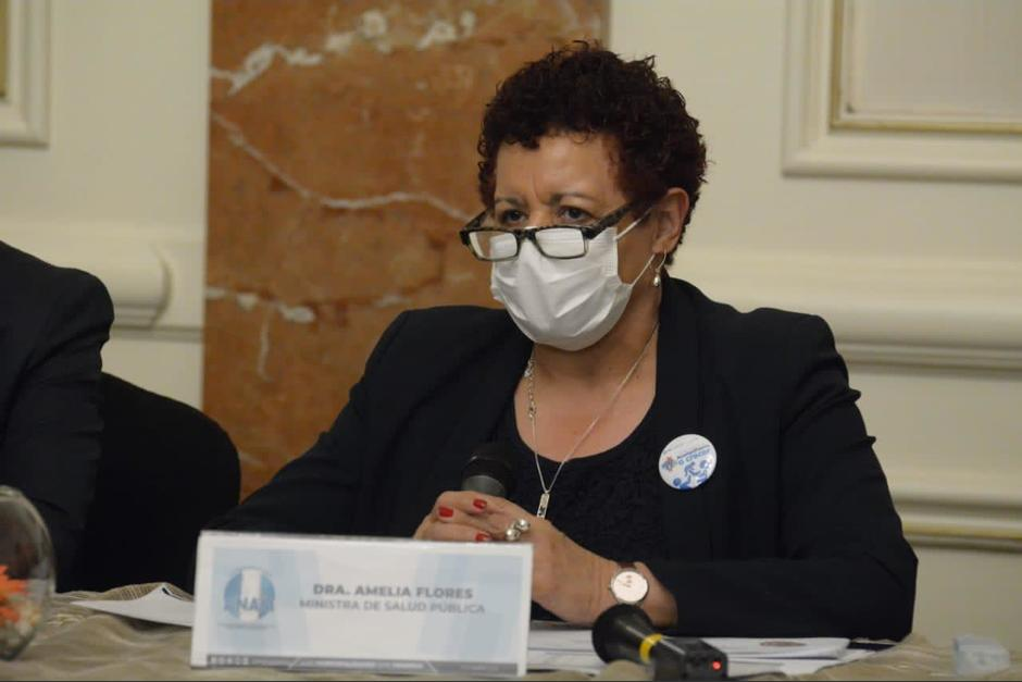 Amelia Flores asumió el cargo de Ministra de Salud en junio del año pasado y este jueves 16 de septiembre fue su último día. (Foto: Archivo/Soy502)