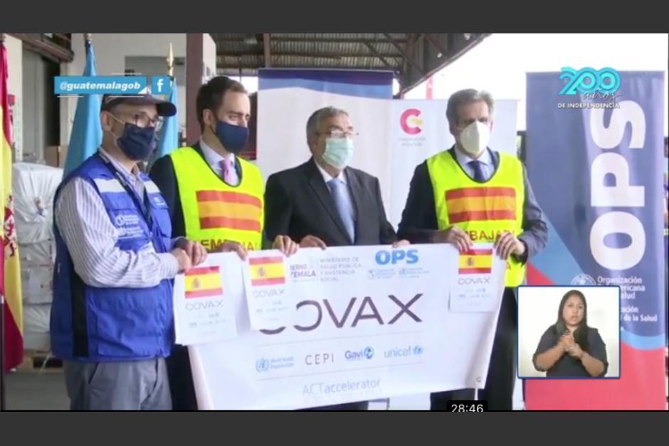 El Gobierno de Guatemala recibió una segunda donación por parte de España. (Foto: captura video)