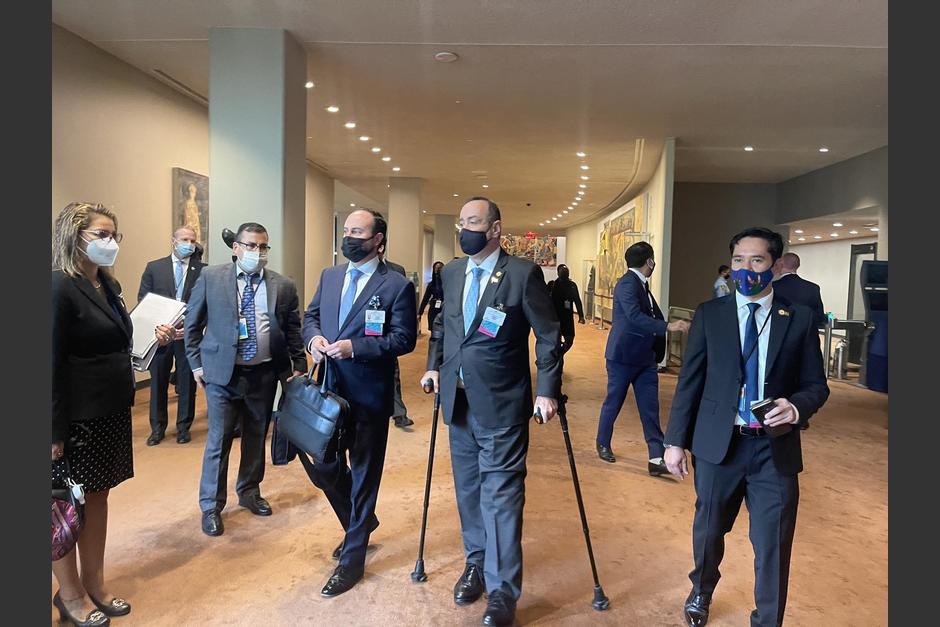 El presidente de Guatemala se encuentra en Estados Unidos. (Foto: SCSPR)