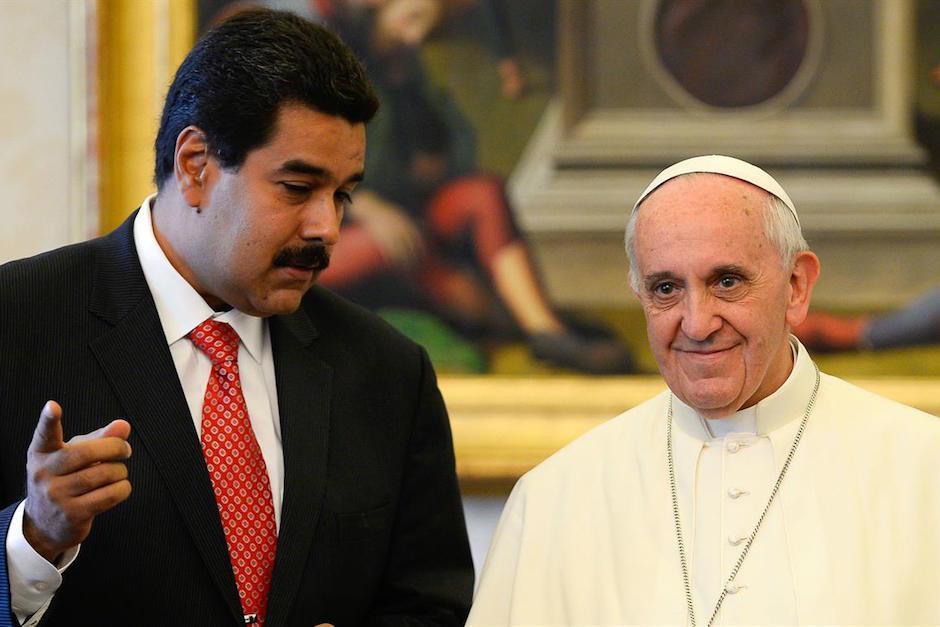 El papa Francisco y Nicolás Maduro se reunieron en el Vaticano. (Foto: Santa Sede)