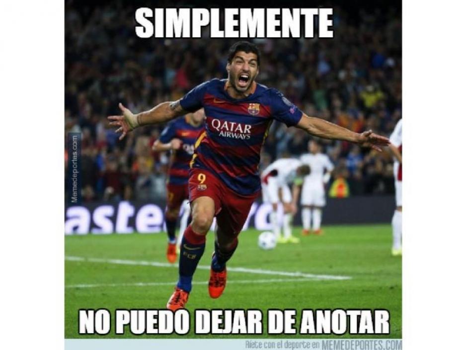 Luis Suárez también apareció en los memes. (Foto: Twitter)
