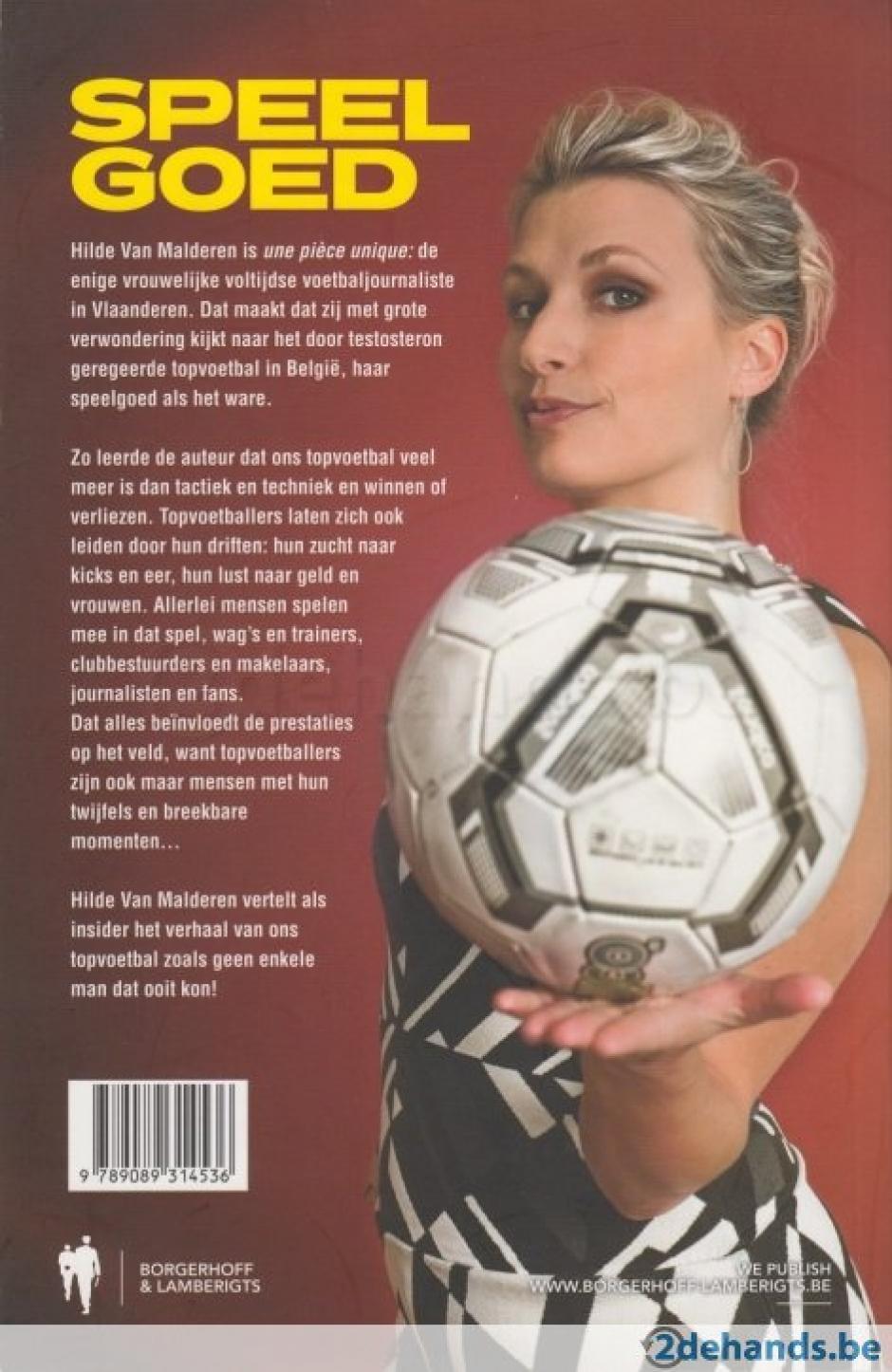 Esta es la contraportada del libro de Hilde Van Malderen. (Foto: borgerhoff)