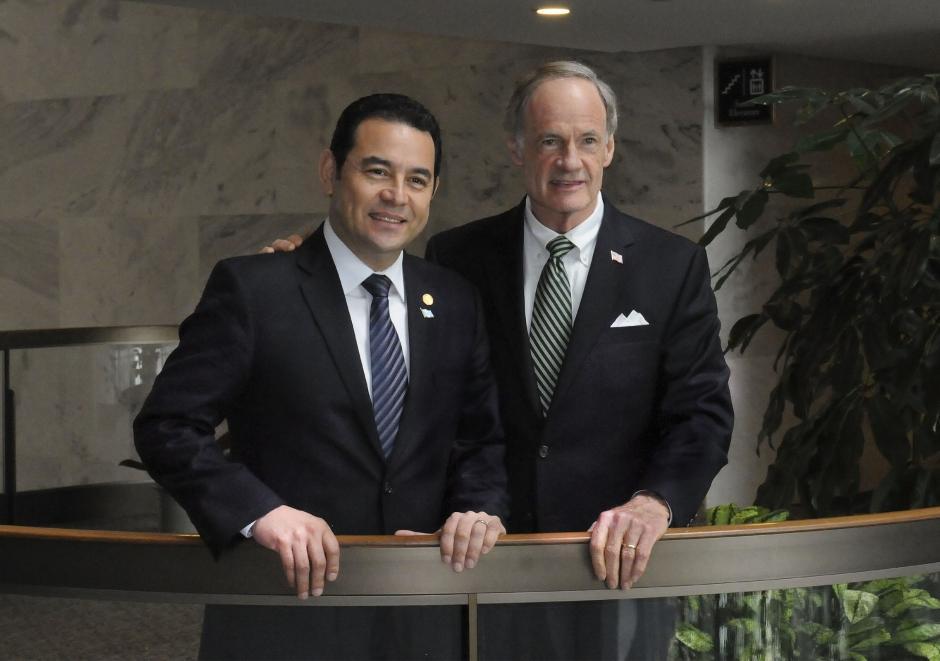 En la gira que realizó por 8 días en Estados Unidos se reunió con senadores de ese país. (Foto: Flickr Gobierno de Guatemala)
