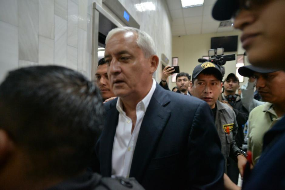 El exmandatario deberá rendir primera declaración en el caso de financiamiento electoral ilícito. (Foto: Wilder López/Soy502)