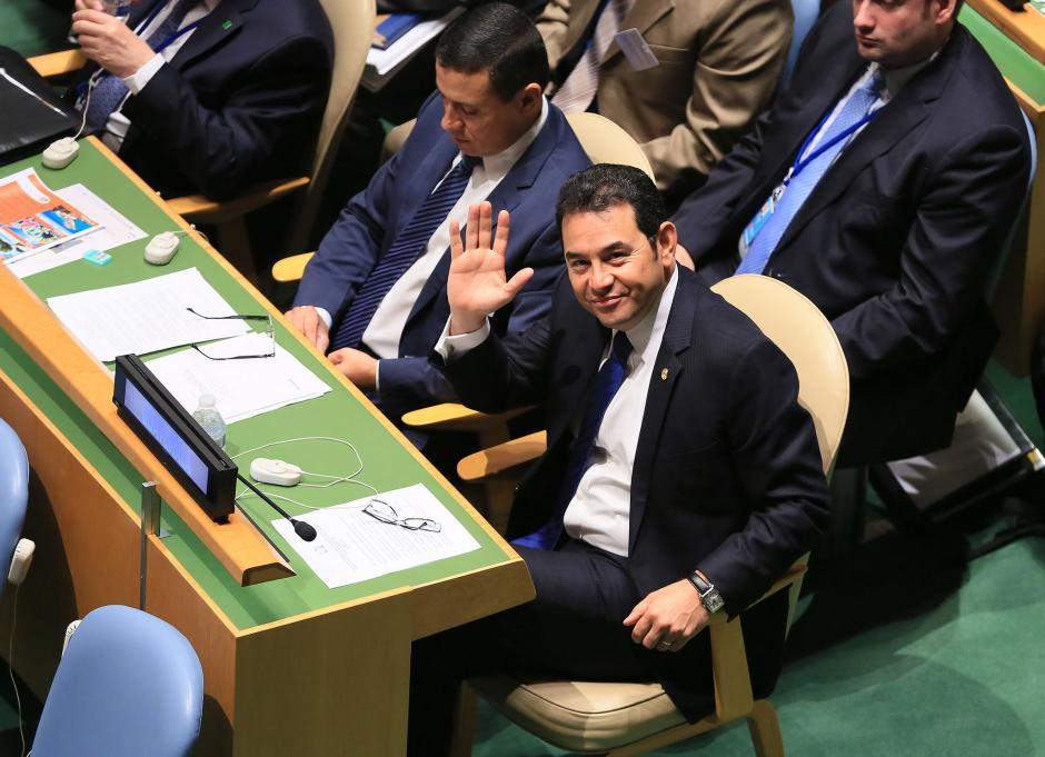 El presidente viajó a la cumbre sobre drogas de la ONU y se quedó durante ocho días en Estados Unidos. (Foto: Flickr Gobierno de Guatemala)