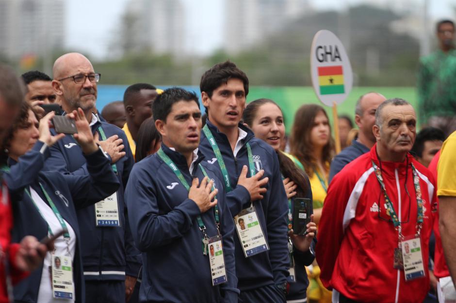 Juan Ignacio Maegli participó en la ceremonia acompañado de Manuel Rodas, Valerie Gruest y José Ramos. (Foto: COG)