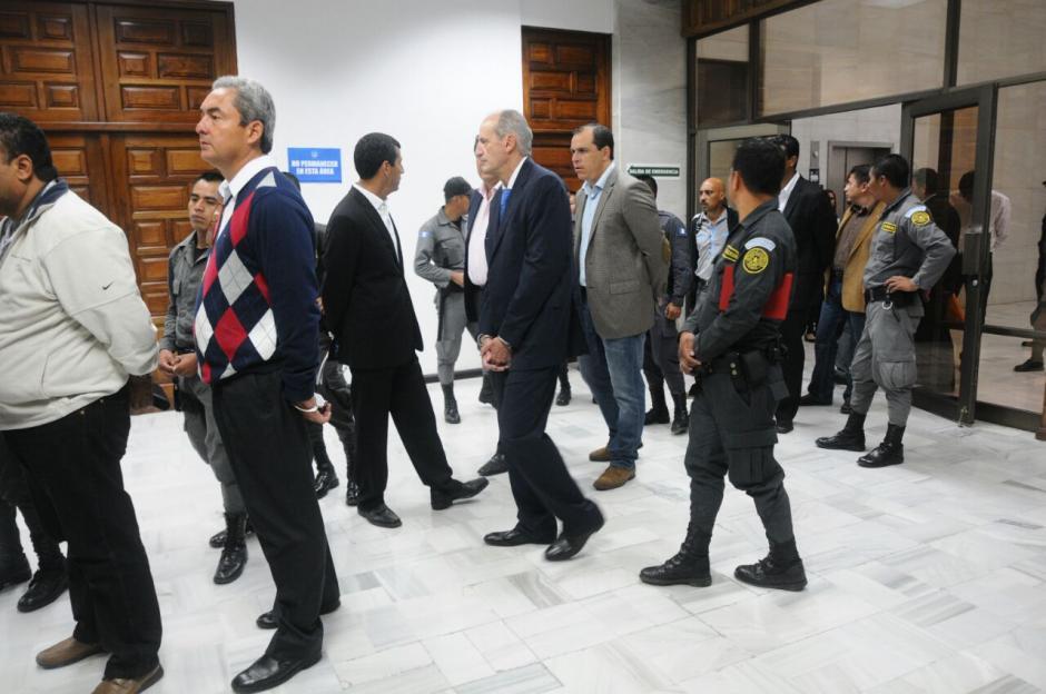 Los implicados llegaron a la continuación de la audiencia de primera declaración.  (Foto: Alejandro Balán/Soy502)