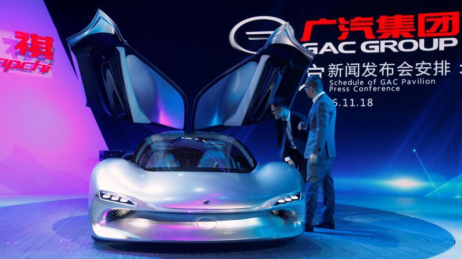 El modelo Trumpchi de la marca china GAC Group. (Foto: Infobae)