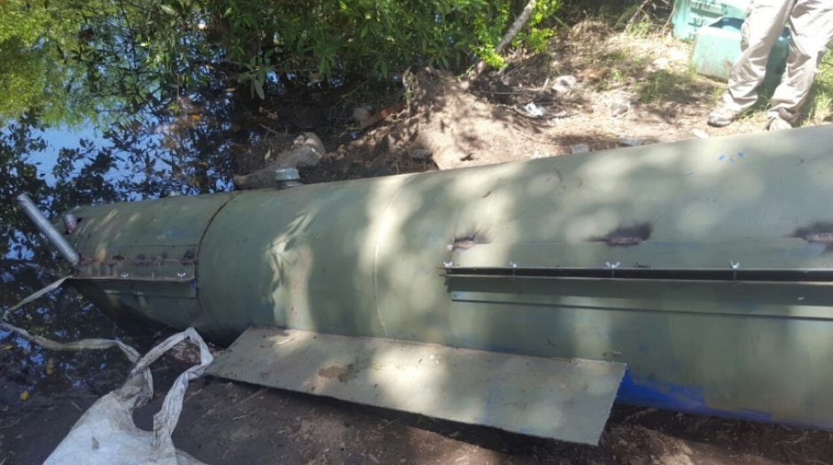 El MP informó que el submarino era utilizado para el transporte de droga. (Foto: MP)