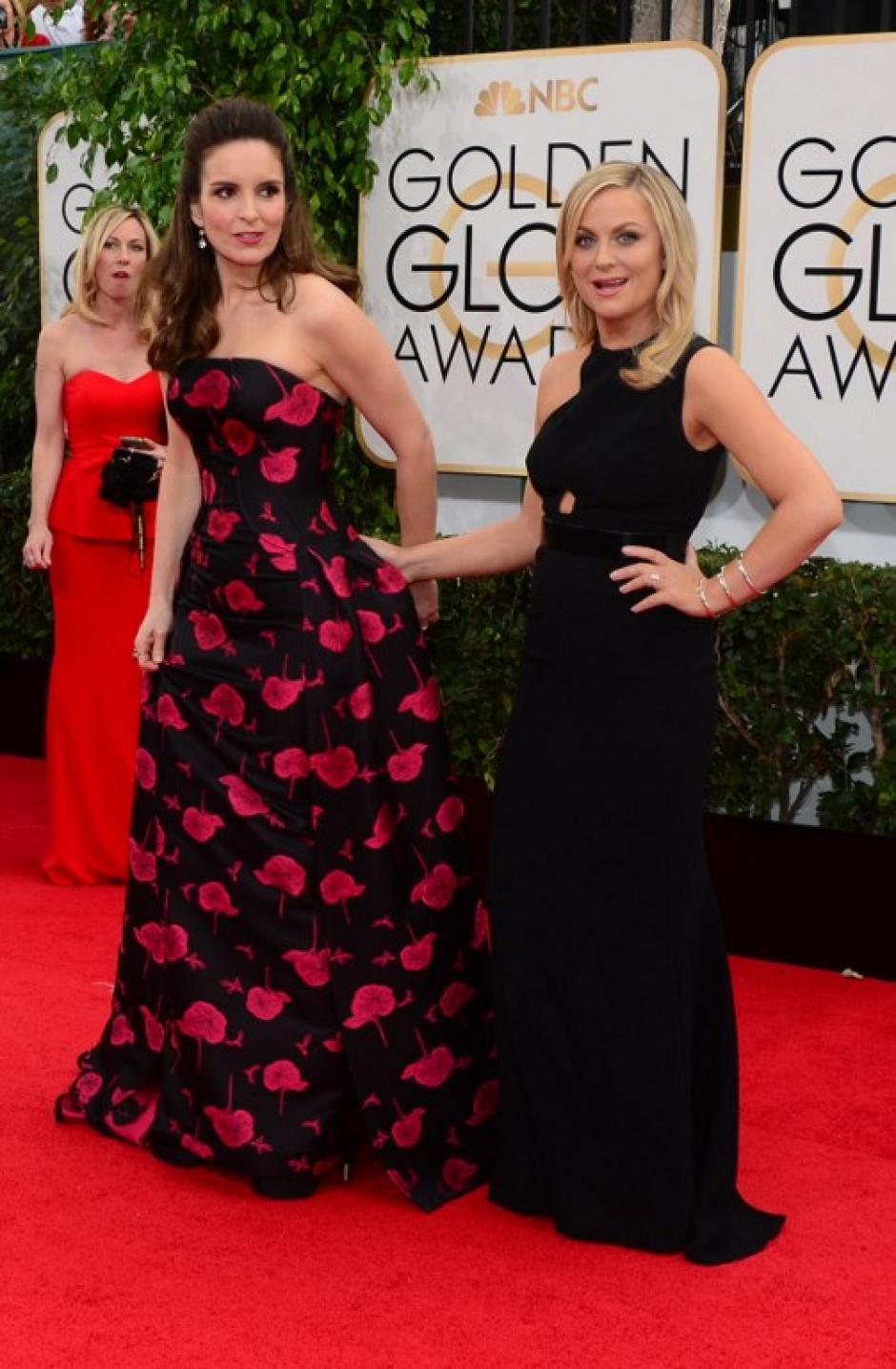 Las presentadorasTina Fey y Amy Poehler. (Foto: AFP)