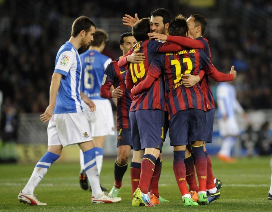 Messi puso el empate temporal 1-1 en el minuto 35. (Foto: AFP)