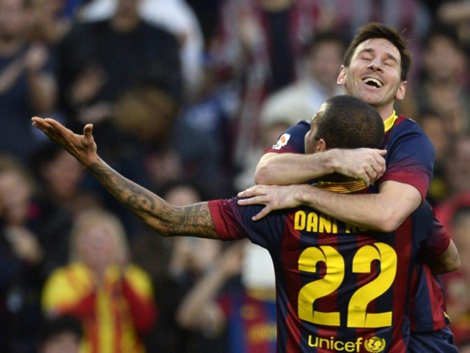 Messi anotó sus goles 369, 370 y 371 el domingo en el Camp Nou. (Foto: AFP)