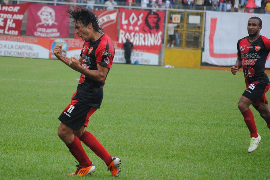Agustín Herrera fue el anotador por Coatepeque en el empate ante Suchitepéquez. (Foto: Nuestro Diario)