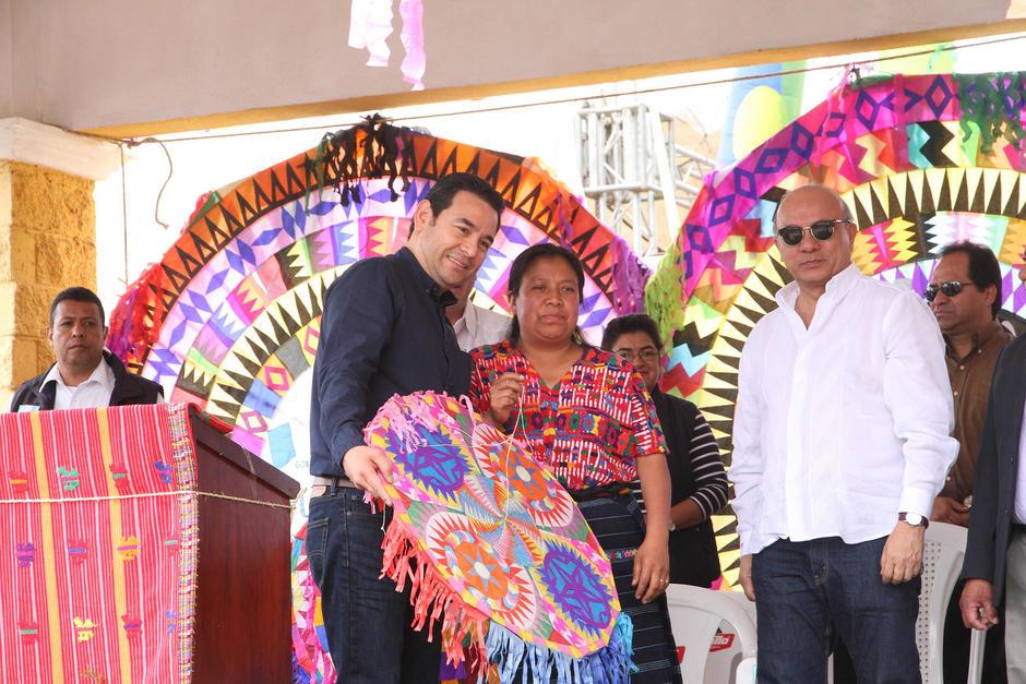 El Mandatario estuvo acompañado del vicepresidente Jafeth Cabrera. (Foto: Secretaría de Comunicación Social de la Presidencia)