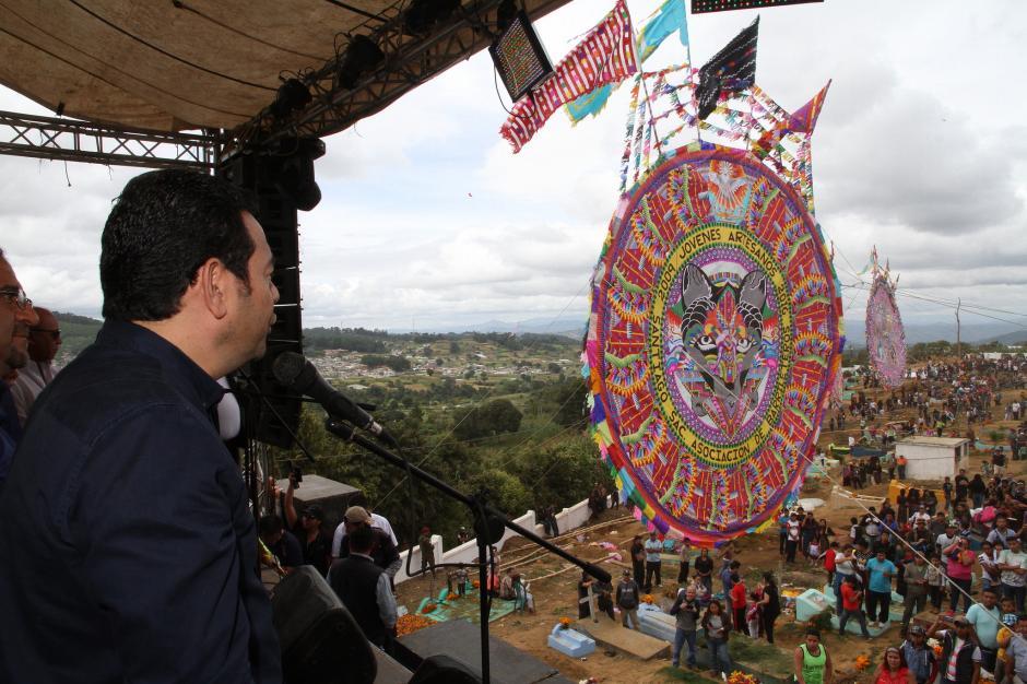 Jimmy Morales recordó su época de comerciante informal. (Foto: Secretaría de Comunicación Social de la Presidencia)