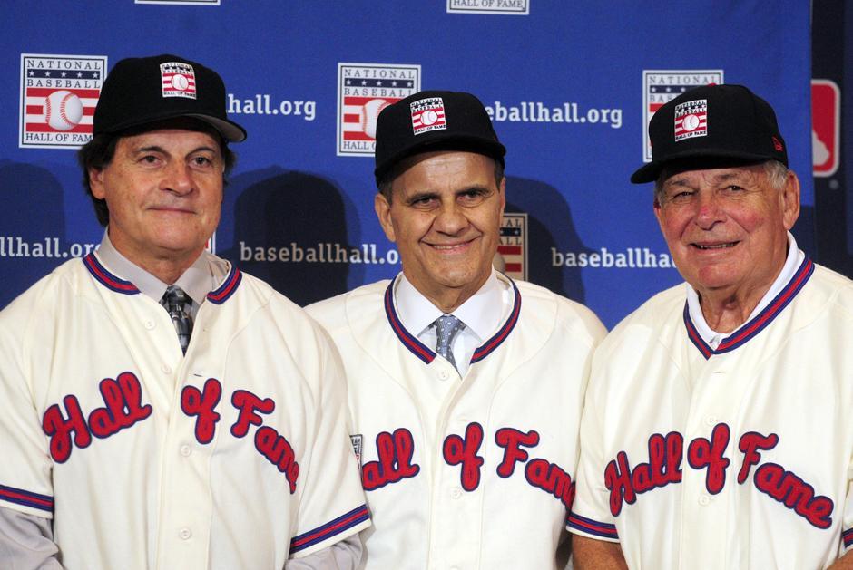 Joe Torre, Tony Larrusa y Bobby Cox, salón de la fama, béisbol