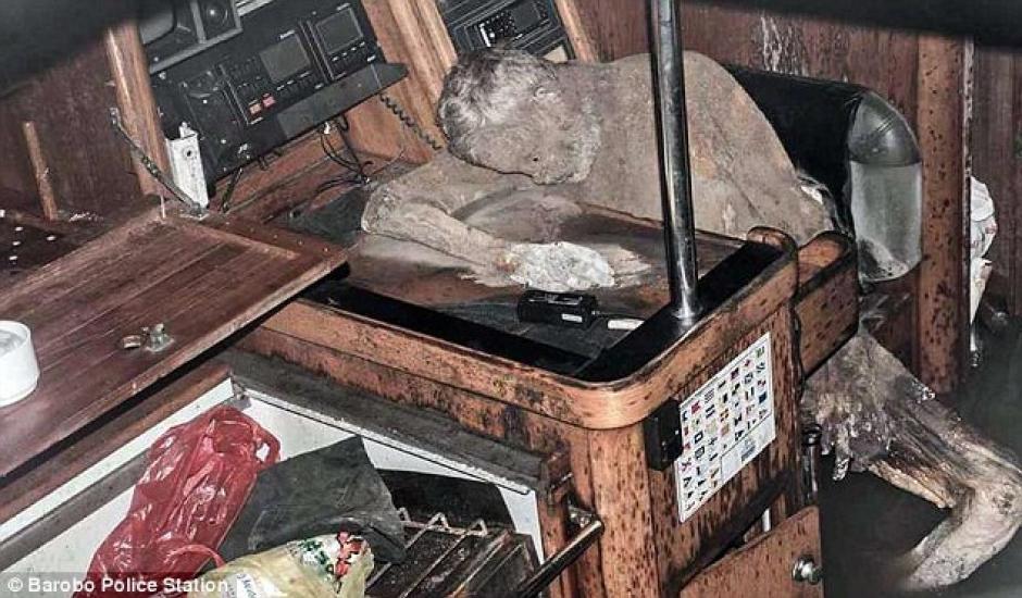 El cuerpo momificado de Manfred Fritz Bajorat se encontró a bordo de su yate. (Foto: www.dailymail.co.uk)