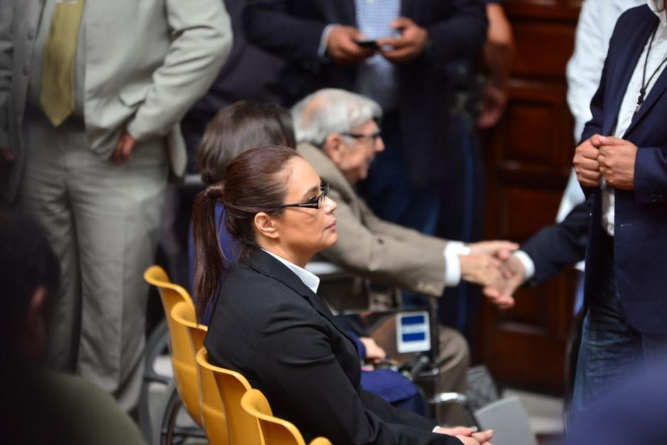 Baldetti siempre se sienta en la primera fila de butacas en la sala de vistas de la CSJ. (Foto: Jesús Alfonso/Soy502)