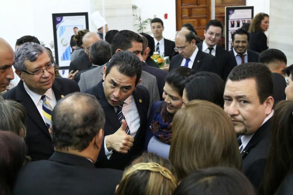 El presidente Jimmy Morales aceptó ante invitados de la CSJ que tiene mala ejecución del presupuesto en varias dependencias. (Foto: Alejandro Balán/Soy502)